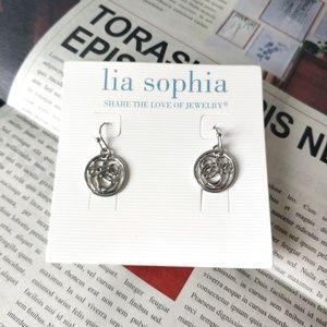 Lia Sophia Vintage Silver Earrings ONLY ONE